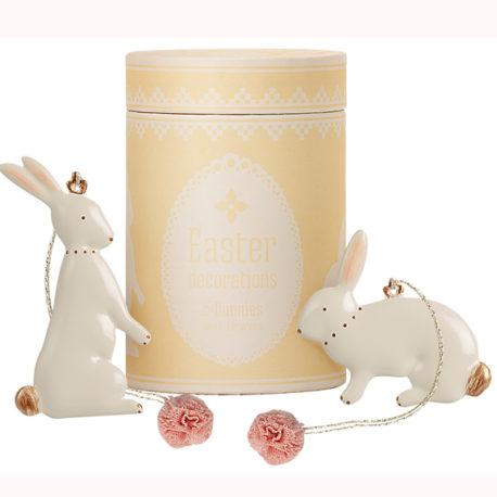 décoration maileg lapins en metal à suspendre 18-1300-00