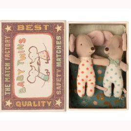 Bébés Jumeaux Maileg SOURIS avec boîte – S. 8 cm