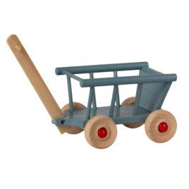 Wagon Maileg Bleu  Hauteur 6,5 cm