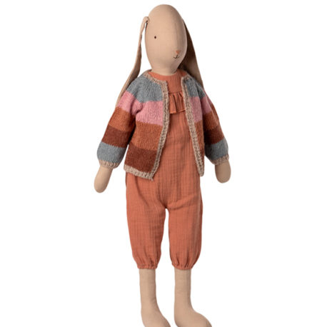 bunny maileg size 5 suit and knitted cardigan 16-1501-00