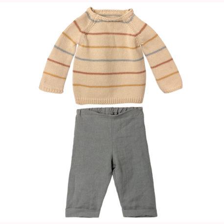 vêtements lapins maileg pantalon et pull 16-1521-01