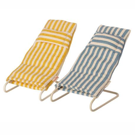 chaises de plage maileg beach chair set Mouse 11-1407-00