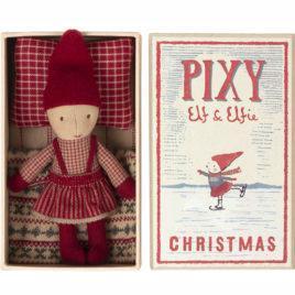 Pixy Elfie Maileg Amie de Noël avec boîte Ht 13 cm