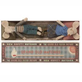 SOURIS Maileg Grandma Grandpa et boîte – S 15 cm