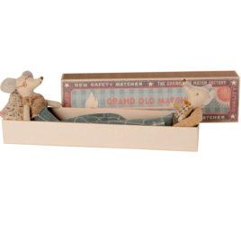 SOURIS Maileg Grandpa Grandma et boîte – S 15 cm