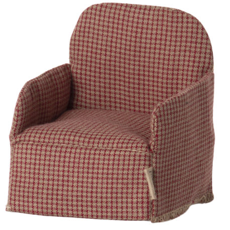 fauteuil maileg rouge 11-1408-01 chair, mouse – red maileg