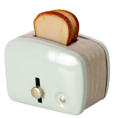 miniature toaster and bread maileg mint 11-1108-02 grille pains maileg