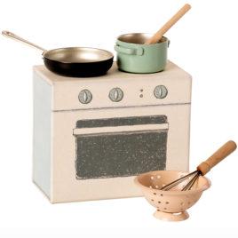 Cuisinière Maileg Set de cuisine avec accessoires