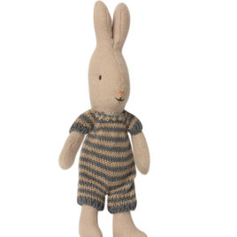 Micro LAPIN Maileg Rabbit – Tricot Bleu foncé – 16 cm
