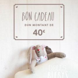 Carte Cadeau Boutique Blebys 40€