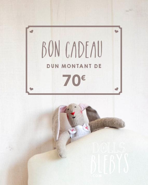 Carte Cadeau Boutique Blebys 70€