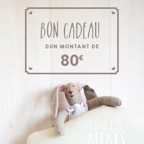 Carte Cadeau Boutique Blebys 80€