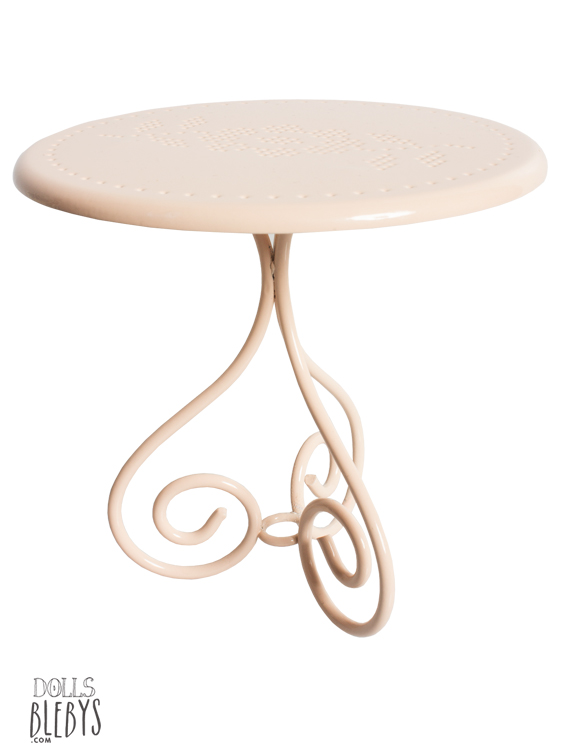 Table de caf maileg en m tal blebys - Table jardin rose ...