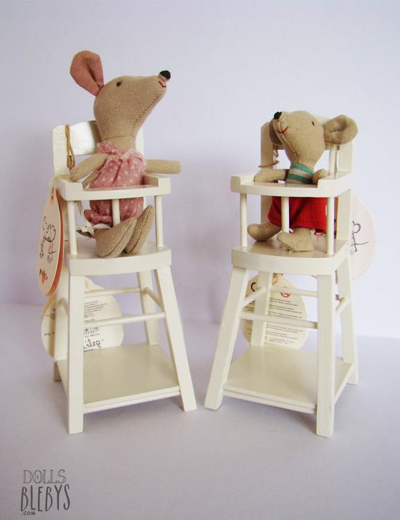 chaise haute maileg en bois blebys. Black Bedroom Furniture Sets. Home Design Ideas