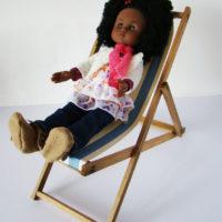 salon de jardin chaise longue poupées