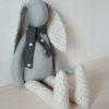 doudou lapin 38 cm gris clair