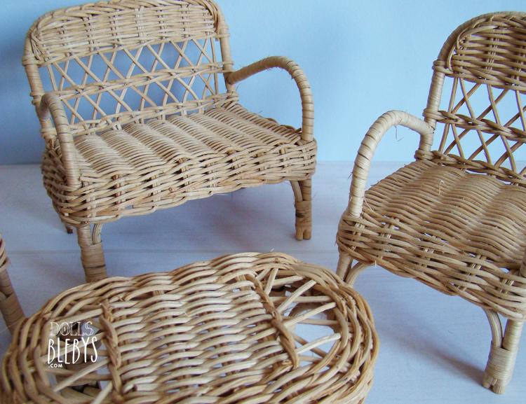 meubles rotin mobilier rotin pour poupées   Blebys