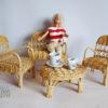 mobilier rotin pour poupée