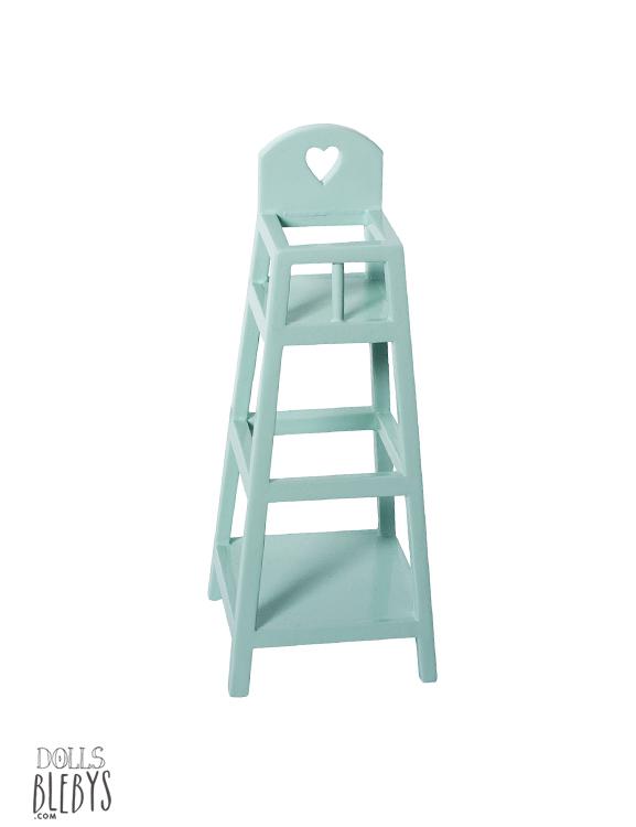 chaise haute bébé MAILEG bleue