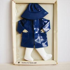 SASHA imperméable bleu complet avec bottes