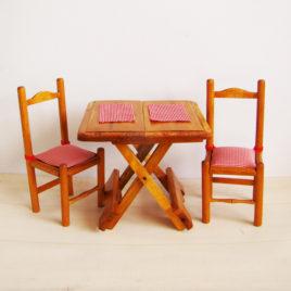 table pliante bois Mobilier de poupées
