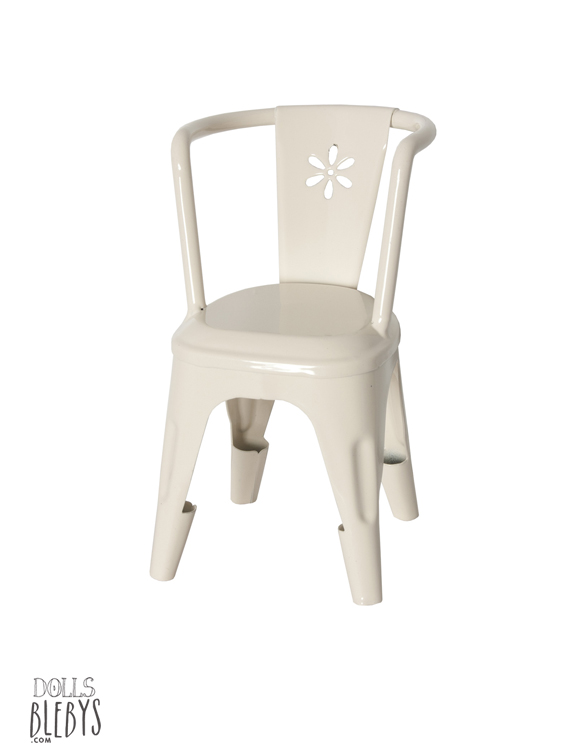 chaise Maileg blanche en métal