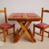 Ensemble table pliante et 2 chaises en bois