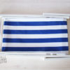 chaise longue rayée blanc bleu PLIEE