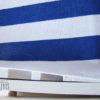 chaise longue blanc bleu