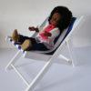 chaise longue rayée avec corolle chérie 33 cm