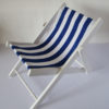 chaise longue toile rayée blanc bleu