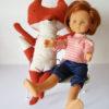 BANC renard maileg et poupée corolle 33 cm