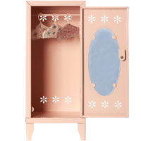 armoire-maileg-rose-penderie-metal-poupees-avec-cintres