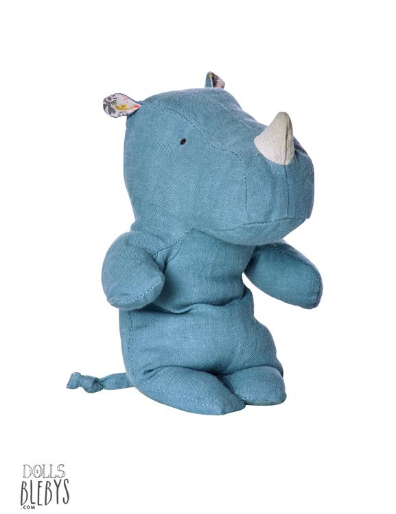 maileg-rhino-little-safari-friends-22-cm-bleu-ciel