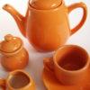 vintage 1970 service à café orange