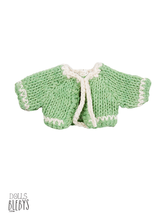maileg cardigan vert tricoté micro knitted cardigan green