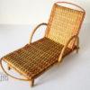 chaise longue de poupee vintage cannage rotin