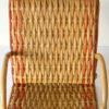 chaise longue rotin poupee vintage transat