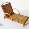 chaise longue rotin vintage jouet poupee