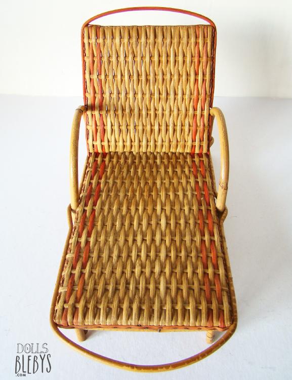 Chaise longue rotin transat osier mod le ancien jouets for Chaise osier tresse