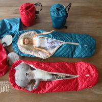 duvet maileg bleu ou rouge camping