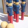jeu de quilles bois moulin roty complet gendarmes