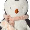 maileg pingouin echarpe rose small 24 cm
