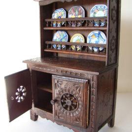 vaisselier breton miniature buffet avec assiettes signées