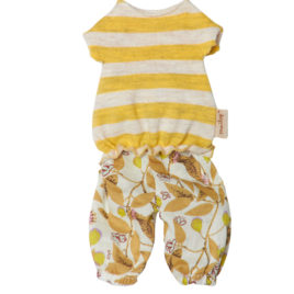 maileg mini top et pantalon jaune