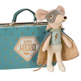 souris maileg heros guardian hero in suitcase