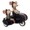 souris maileg racer dans un sidecar