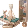 boite à chaussures maileg ballerine dancing cat and mouse in shoebox