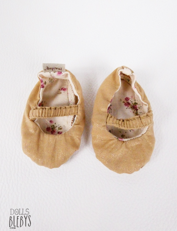 chaussures maileg gold medium