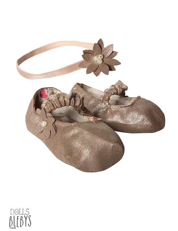 chaussures maileg silver medium